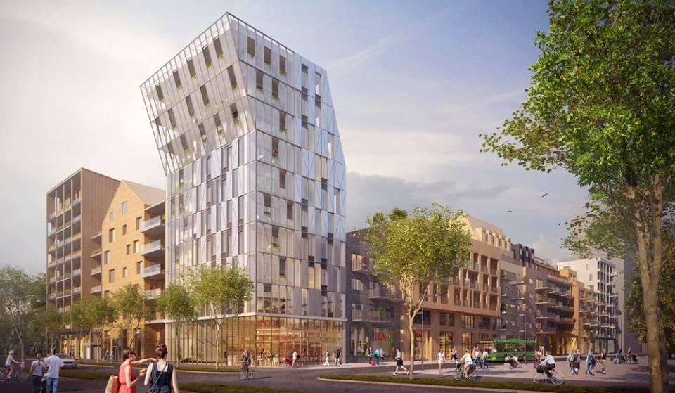 Ulleråkers nya planerade stadsdelscentrum