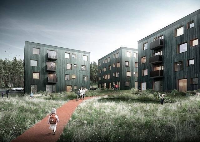 "Planerade Borg-kuber i Vallentuna, Stockholm (illustration: Kjellgren Kaminsky Architecture). ""You will be assimilated. Resistance is futile!"""